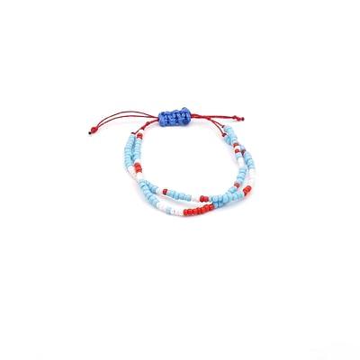 Petite Multi-Color Beads Two Row Bracelet