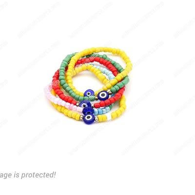 Unique Multi-color Evil Eye Bracelets