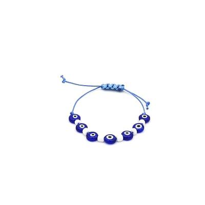 Blue Lucky Charm Evil Eye Bracelet