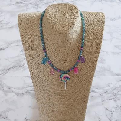 Gummy Bear Lollipop Necklace