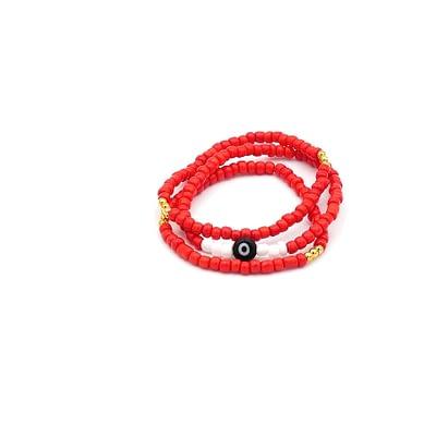Gorgeous Red Elastic Evil Eye Bracelets