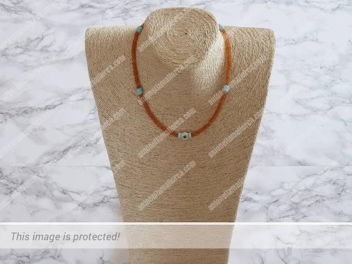 Orange Agate Necklace-2