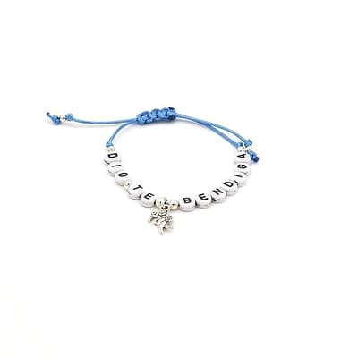 Personalized Word Bracelet with Angel Charm