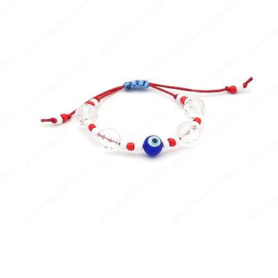 Red Evil Eye Statement Bracelet
