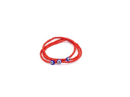 Pretty Elastic Red Evil Eyes Bracelets